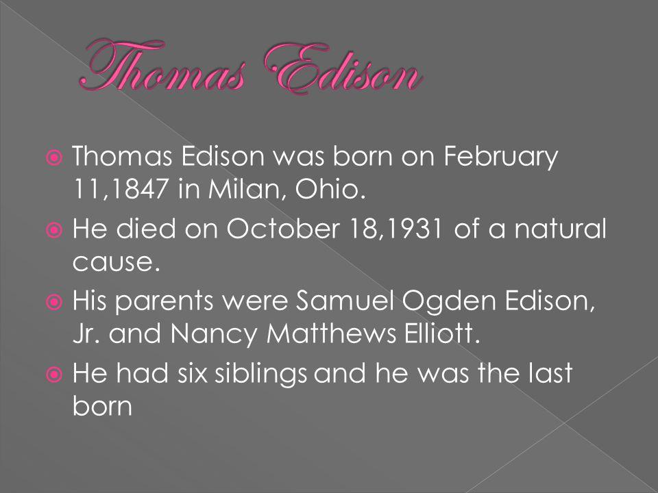  Thomas Edison also made a light bulb  He also made the telegraph.  Thomas edison