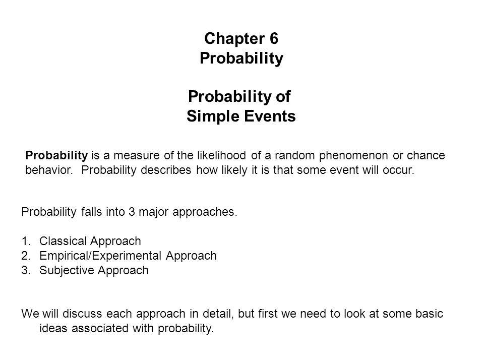 Probability vs.