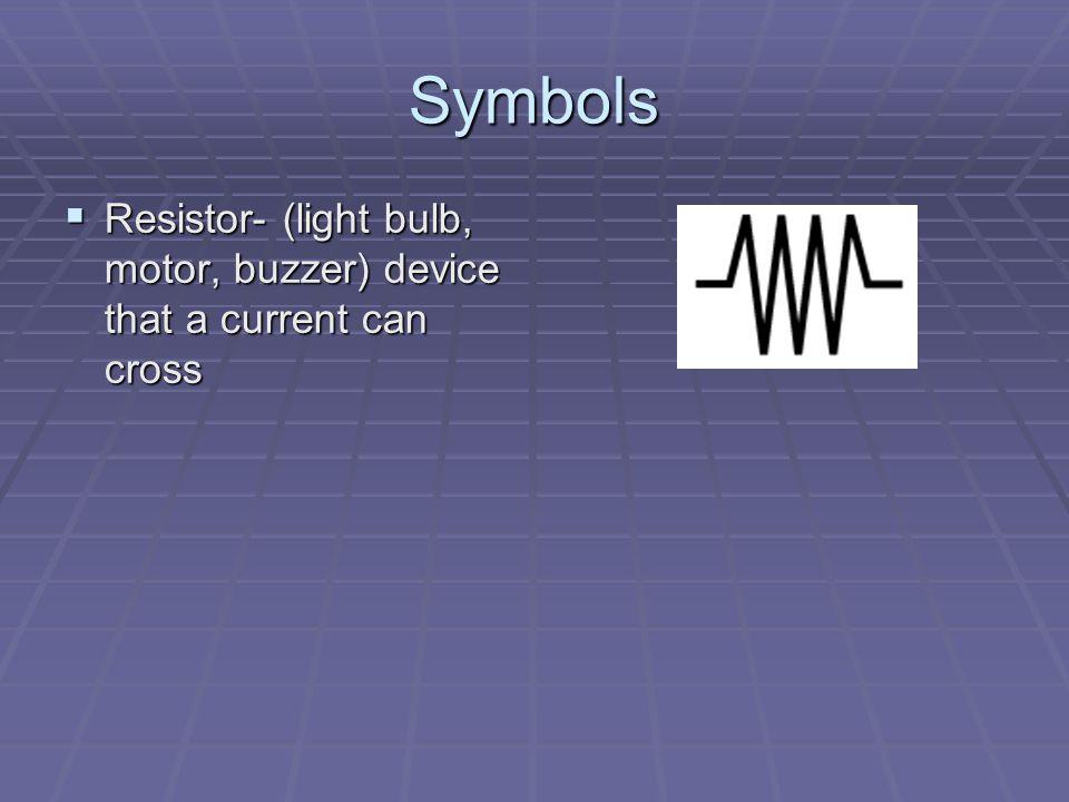 Symbols  Wire  Battery