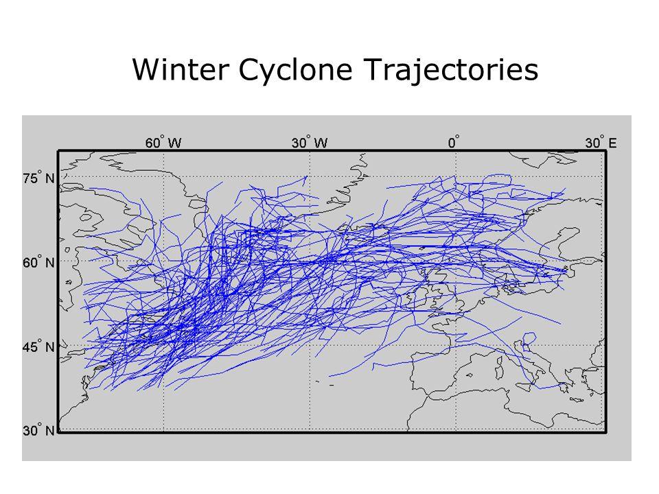 Winter Cyclone Trajectories