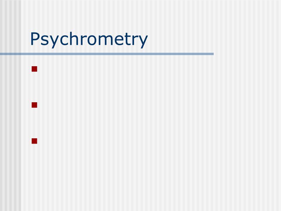 Psychrometry