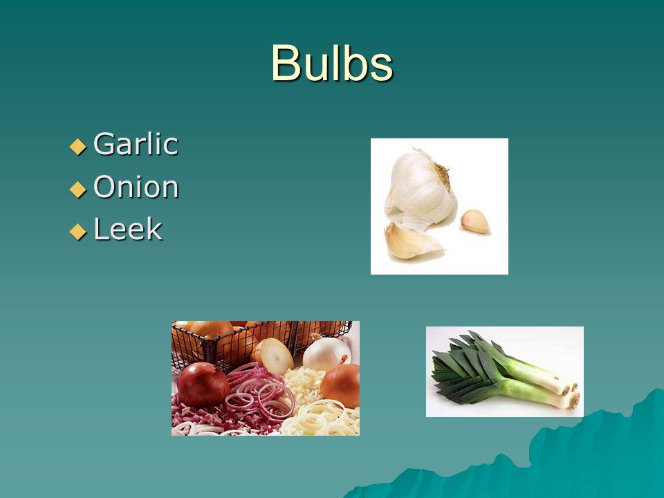 Bulbs  Garlic  Onion  Leek