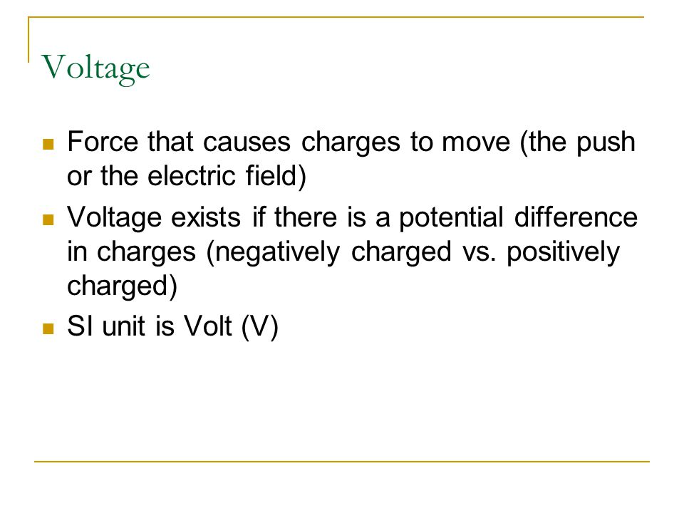 The flow of electricity depends upon… Voltage Current Resistance http://cache.eb.com/eb/image id=100742&rendTypeId=4 Current (electron flow) voltage resistance - +