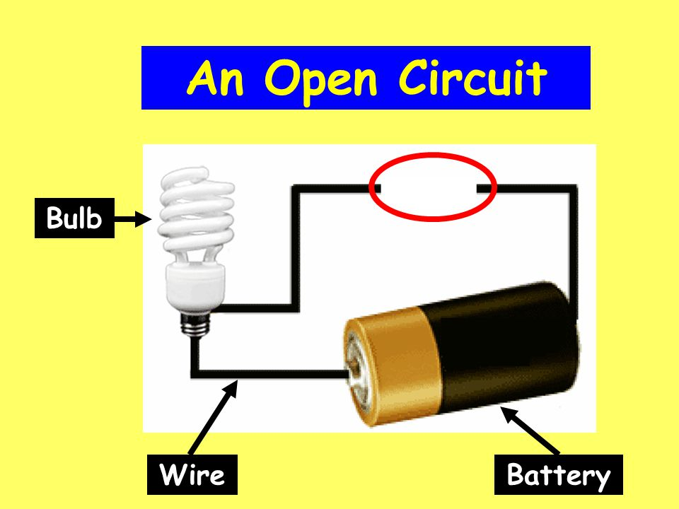 An Open Circuit WireBattery Bulb