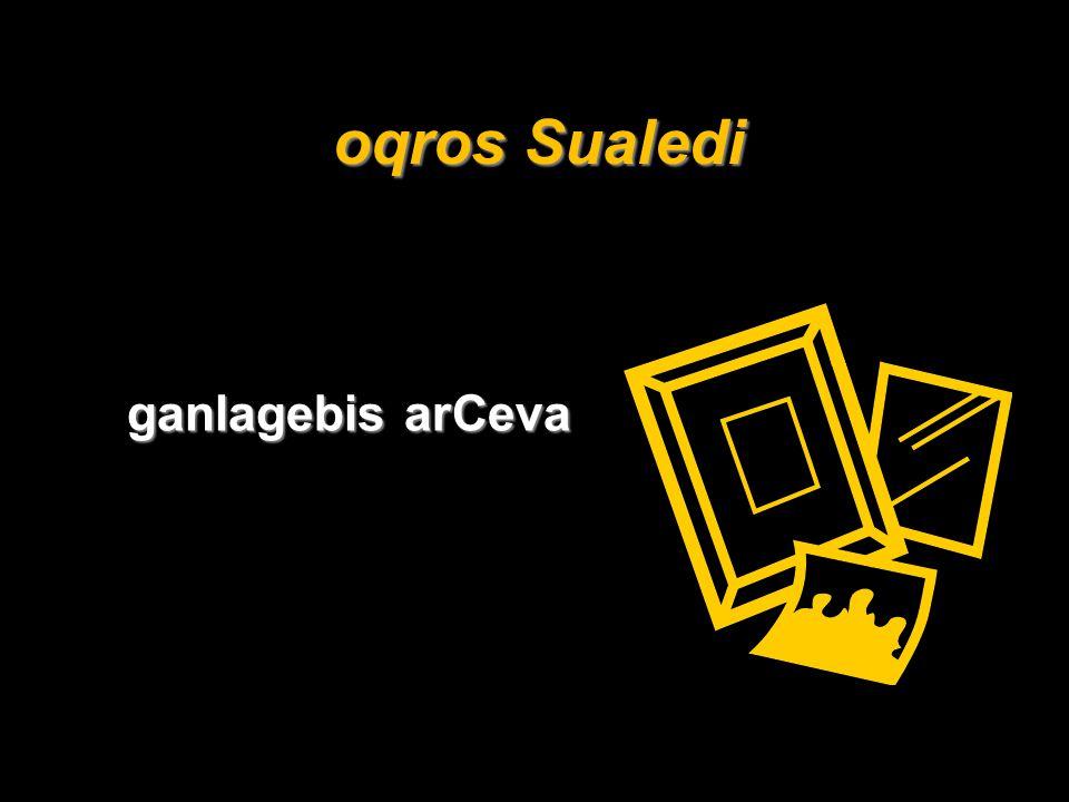 oqros Sualedi ganlagebis arCeva