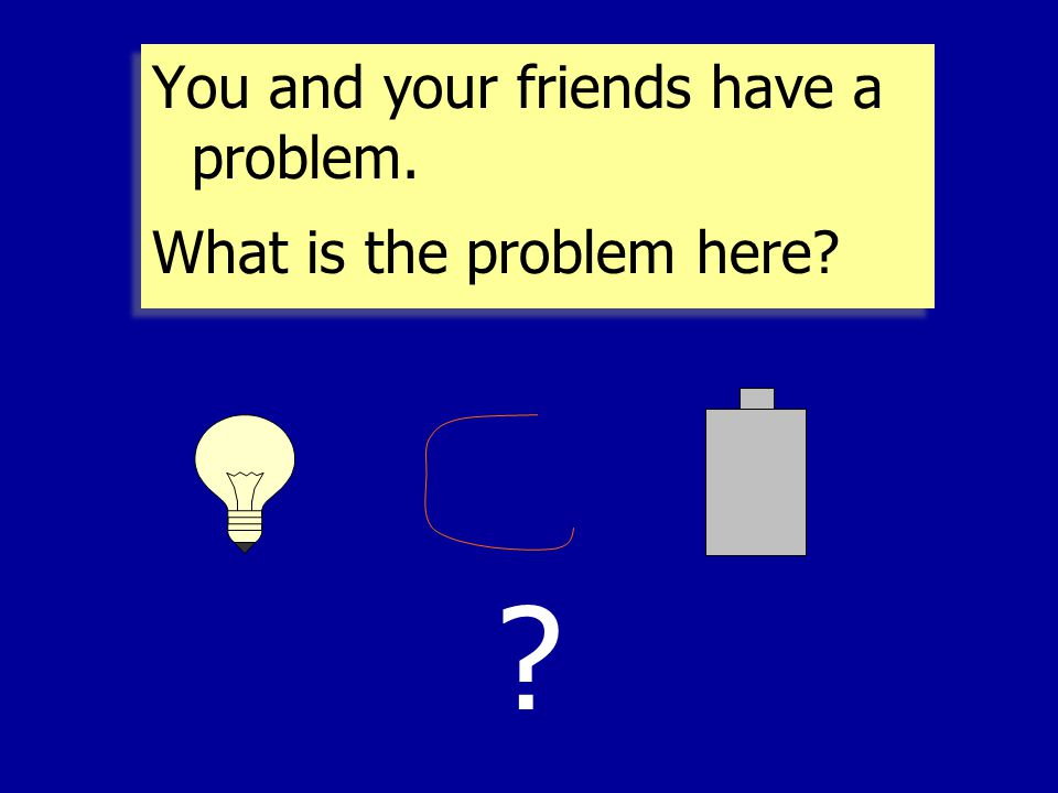 You and your friends have a problem.What is the problem here.