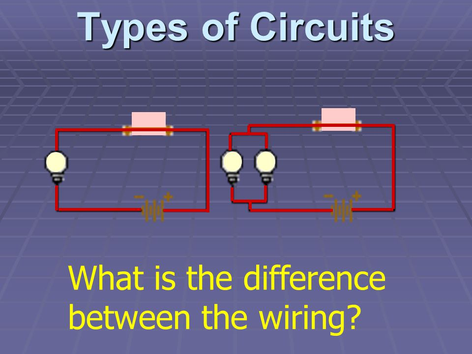 Types of Circuits What is the difference between the wiring?