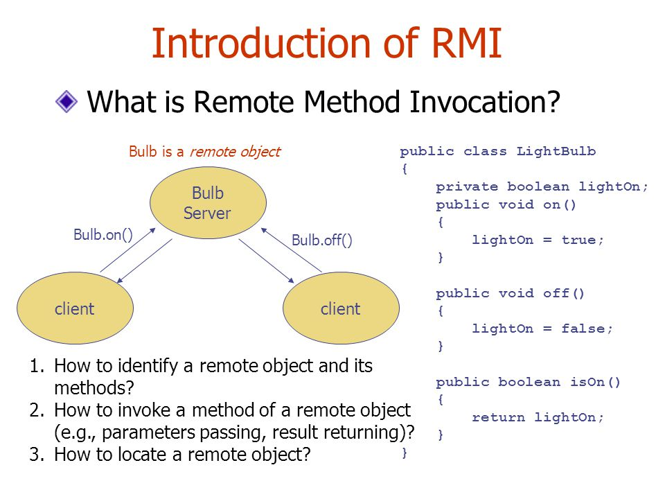 Introduction of RMI What is Remote Method Invocation.