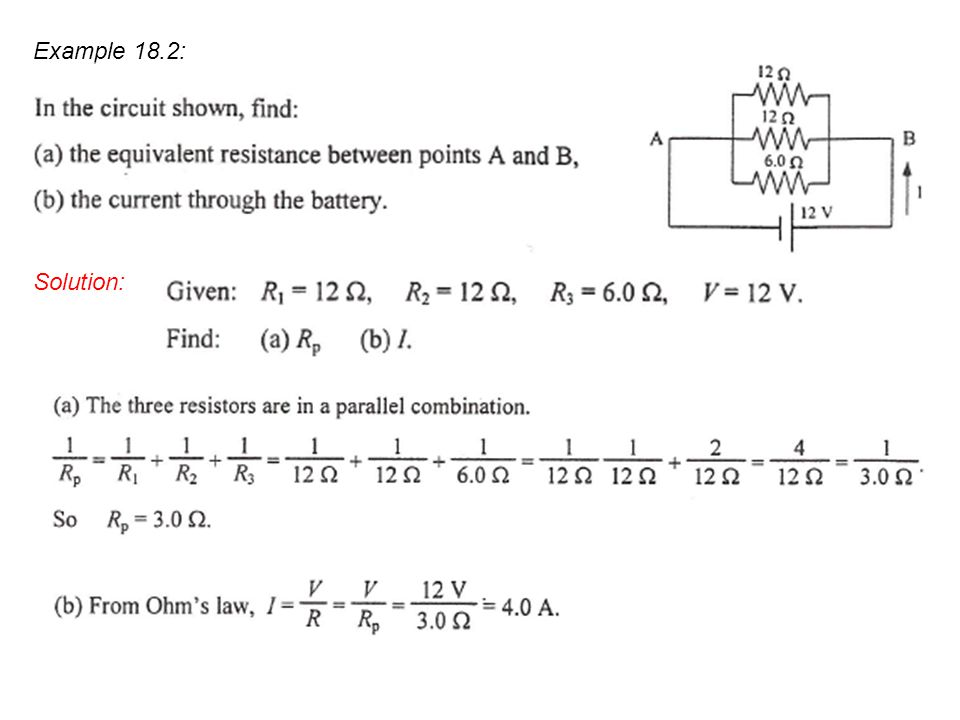 Example 18.2: Solution: