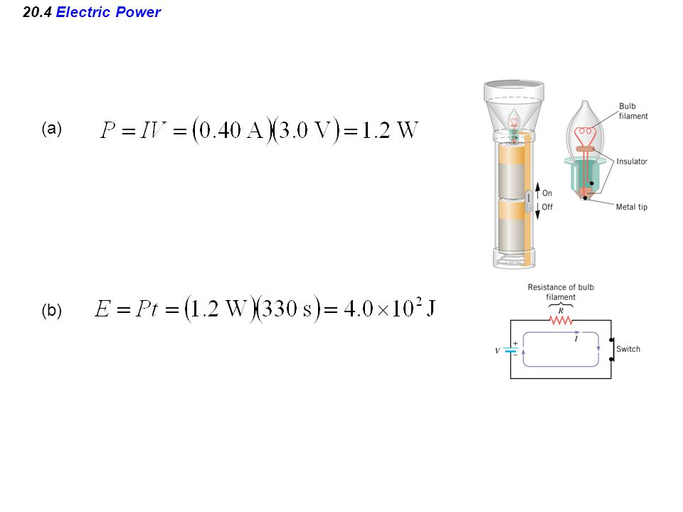 20.4 Electric Power (a) (b)