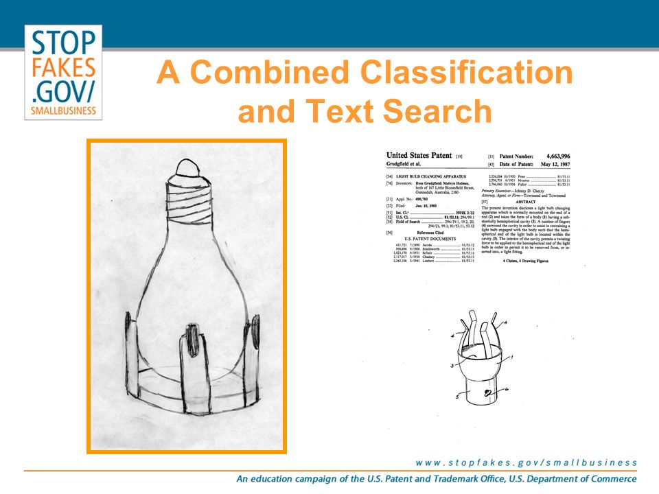 A Combined Classification and Text Search A text search for light bulb including the terms holder or support