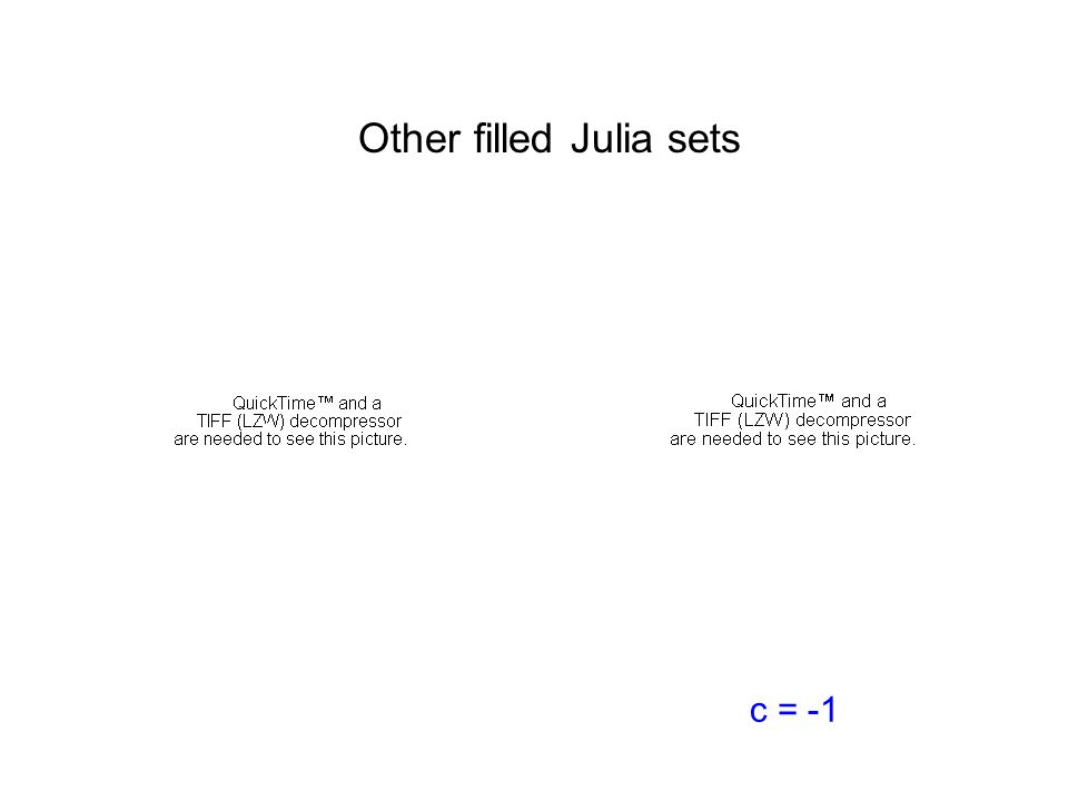 Other filled Julia sets c = -1