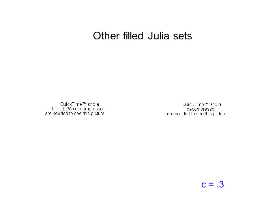 Other filled Julia sets c =.3