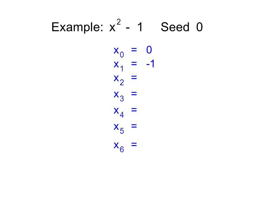 Example: x - 1 Seed 0 2 x = 0 0 x = -1 1 x = 2 3 4 5 6