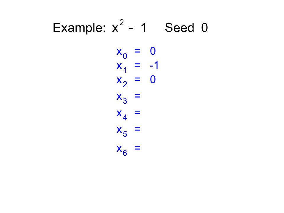 Example: x - 1 Seed 0 2 x = 0 0 x = -1 1 x = 0 2 x = 3 4 5 6