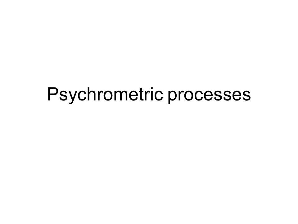 Psychrometric processes