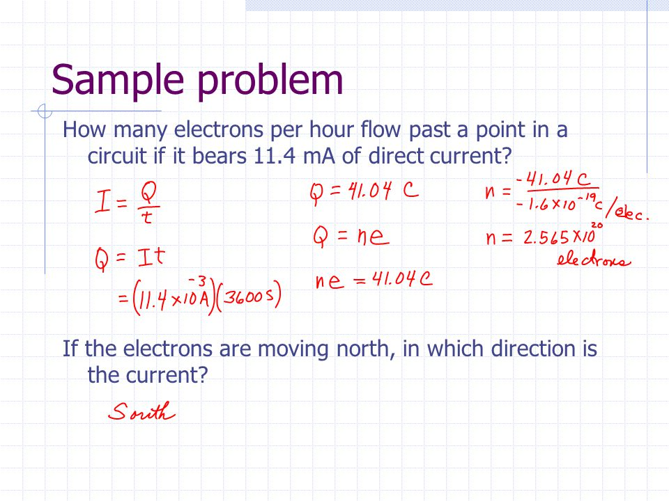 Sample problem What is the resistivity of a substance which has a resistance of 1000  if the length of the material is 4.0 cm and its cross sectional area is 0.20 cm 2 ?