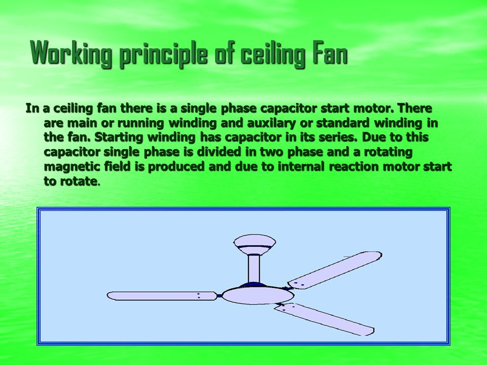 Working principle of Motor If a current carrying conductor is placed in a magnetic field it experience a force and start to rotate. The direction of r