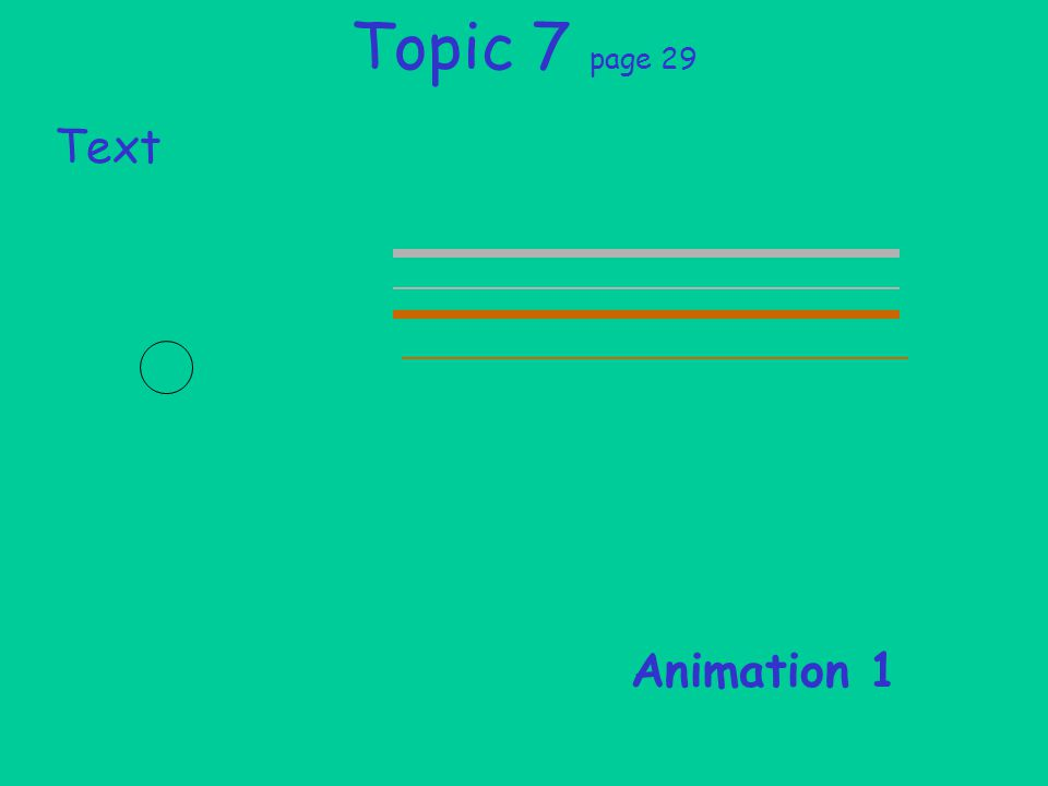 Topic 7 page 29 Text Animation 1