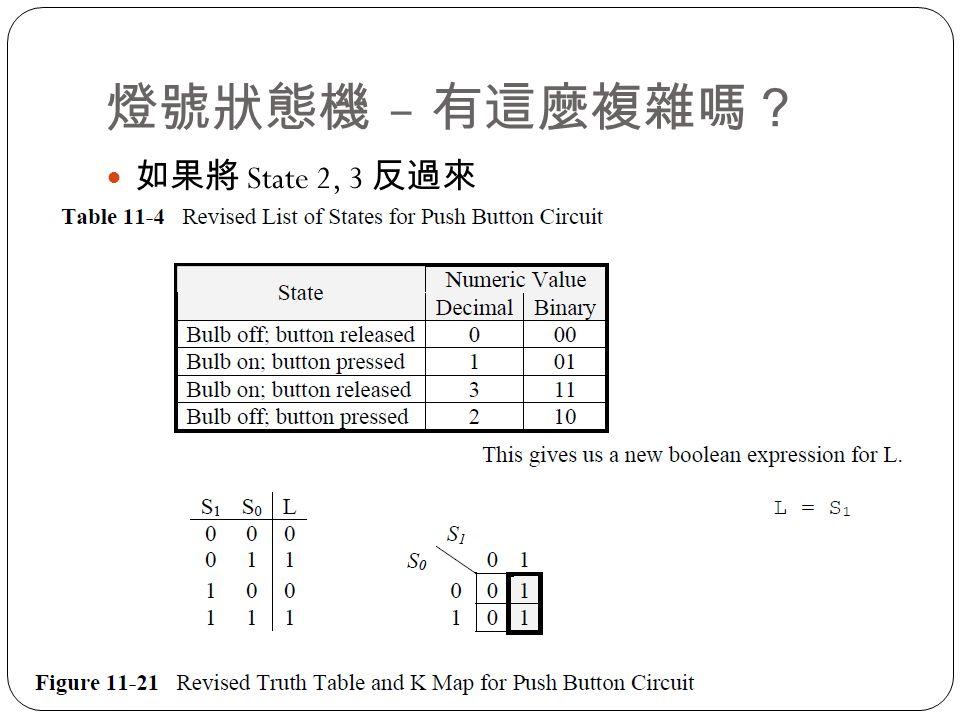 燈號狀態機 – 有這麼複雜嗎? 如果將 State 2, 3 反過來