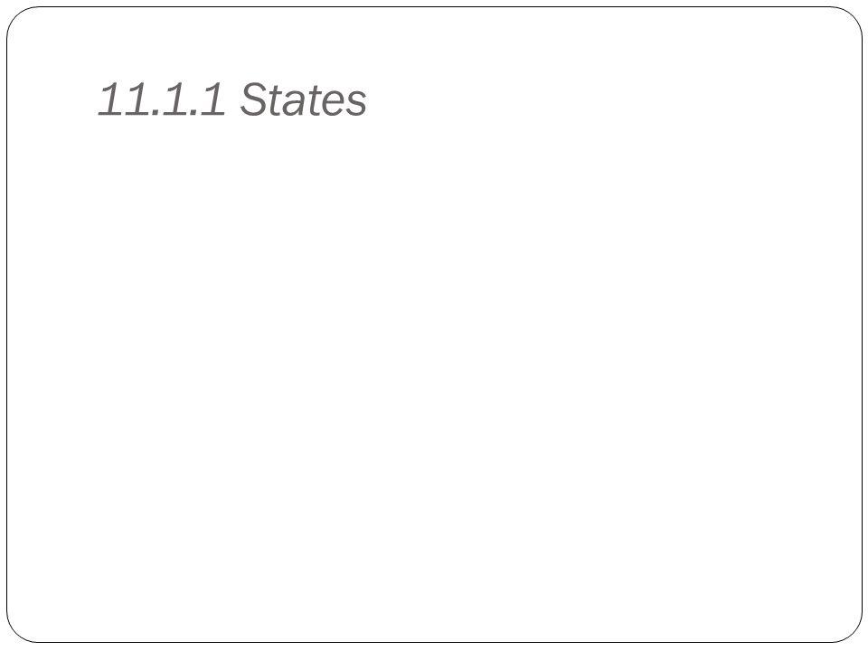 11.1.1 States