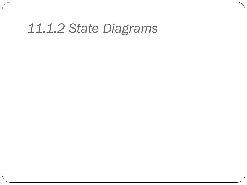 11.1.2 State Diagrams