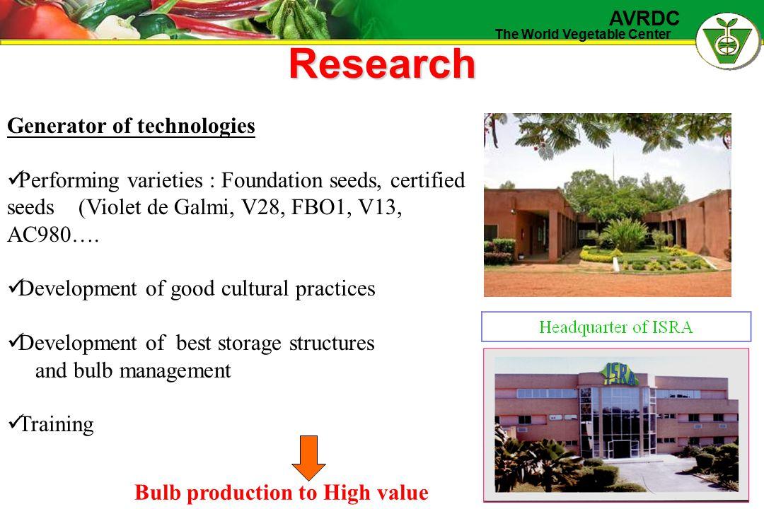 The World Vegetable Center AVRDC