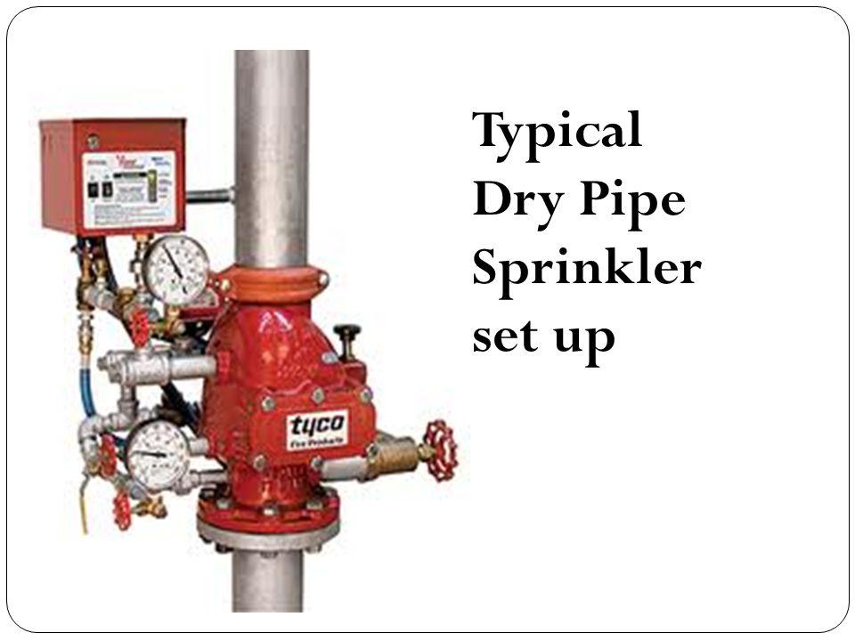 Typical Dry Pipe Sprinkler set up