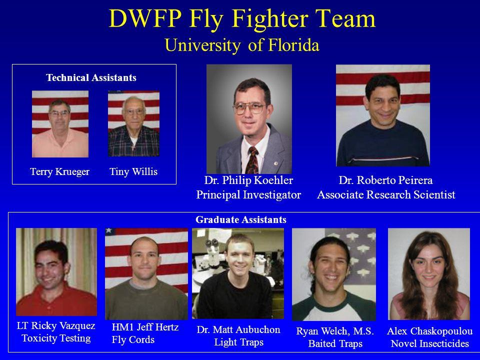 DWFP Fly Fighter Team University of Florida Dr. Philip Koehler Principal Investigator Dr.