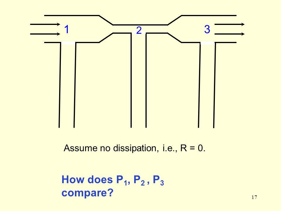 17 13 2 How does P 1, P 2, P 3 compare? Assume no dissipation, i.e., R = 0.
