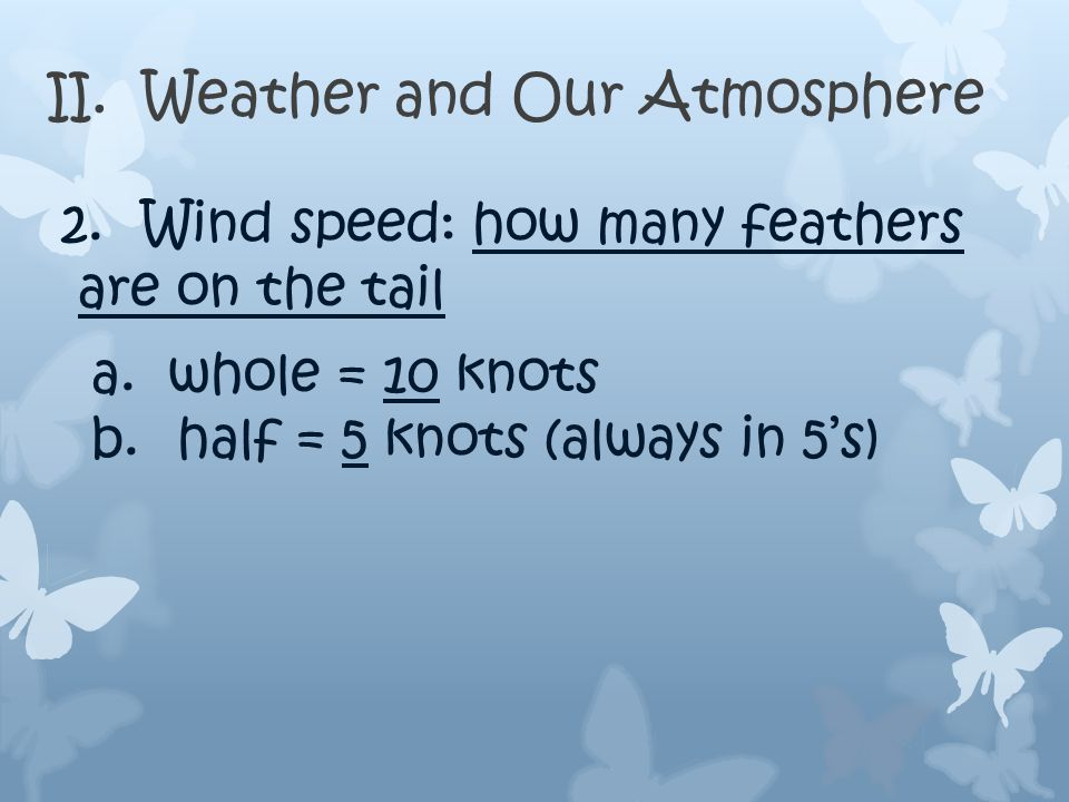 II. Weather and Our Atmosphere 1.