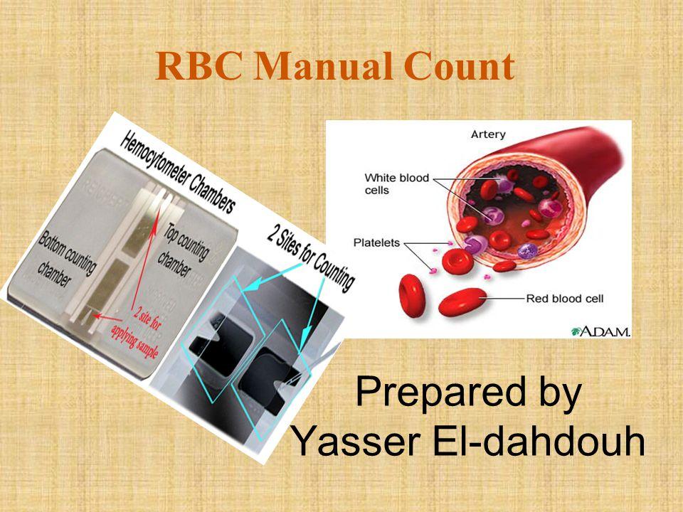 RBC Manual Count Prepared by Yasser El-dahdouh