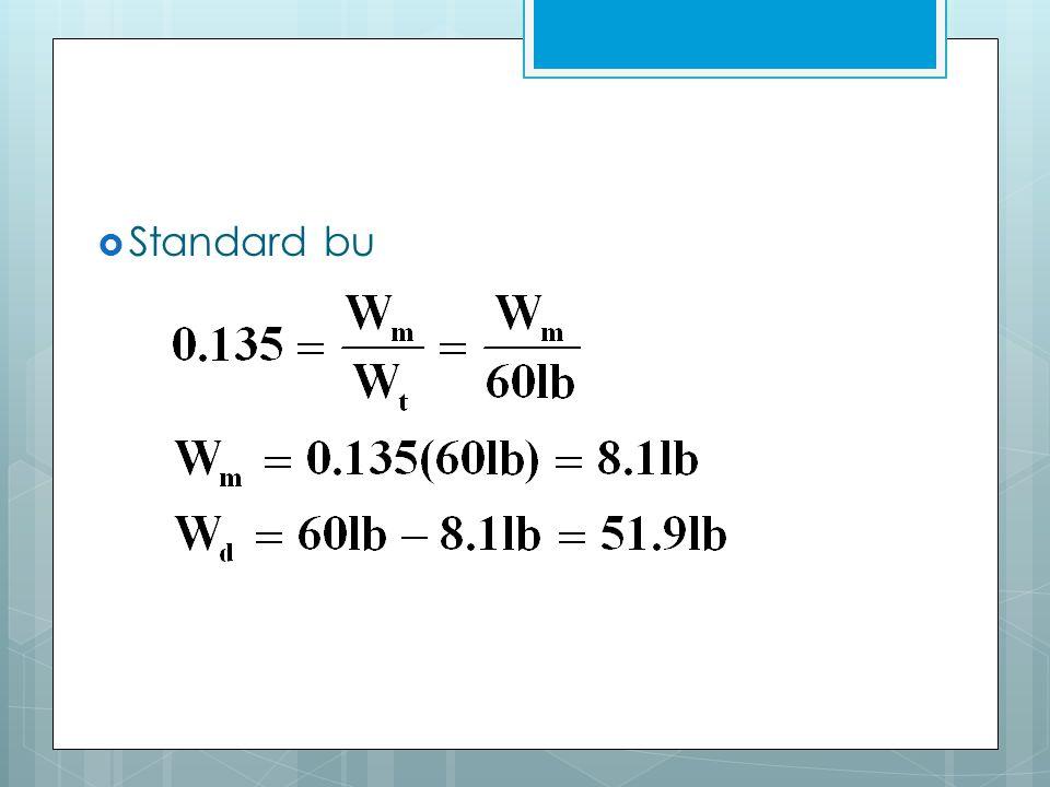  Standard bu