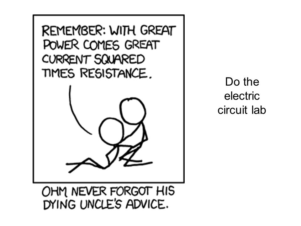 Do the electric circuit lab