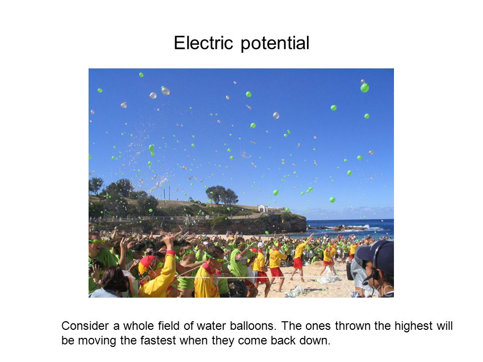 Electric potential Now consider two water tanks.