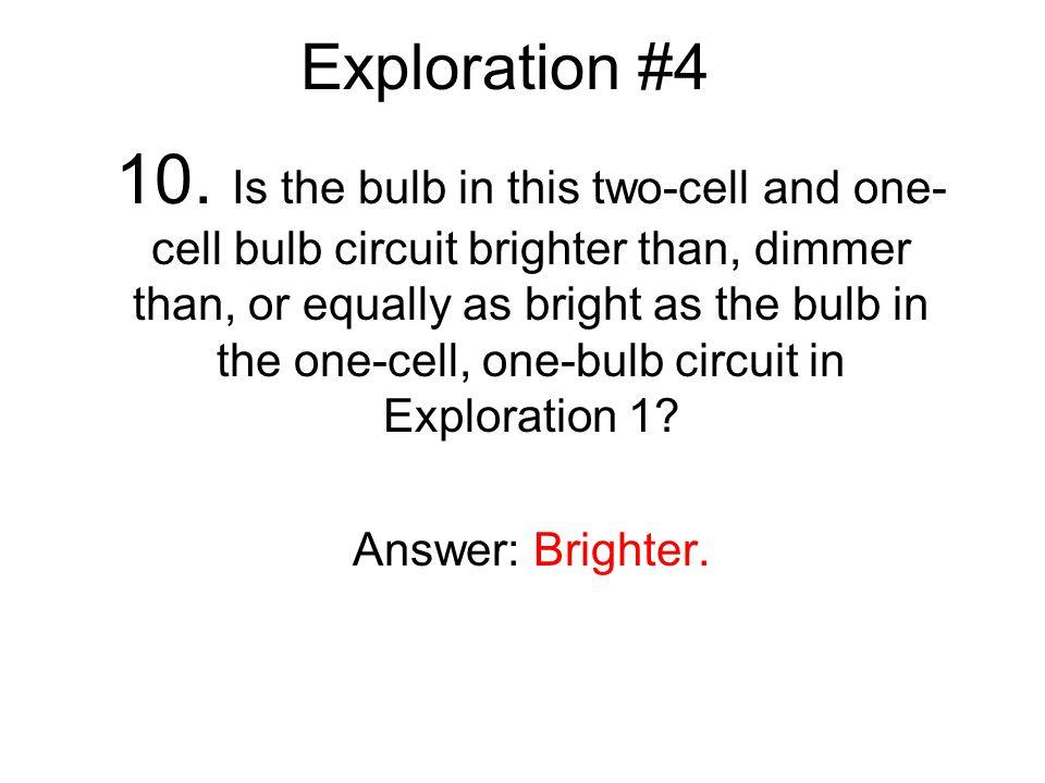 Exploration #4 10.