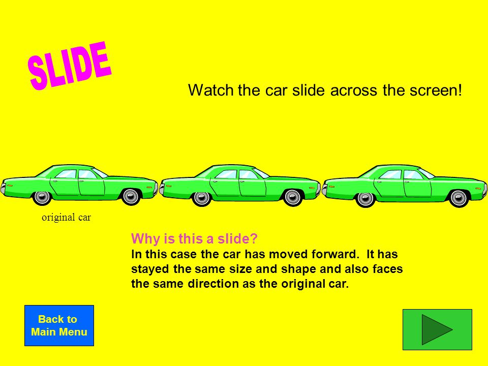 SLIDE I'm done learning these terms! TURN FLIP SYMMETRY