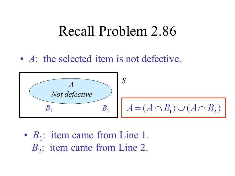 Law of Total Probability A S B1B1 B2B2 BkBk …