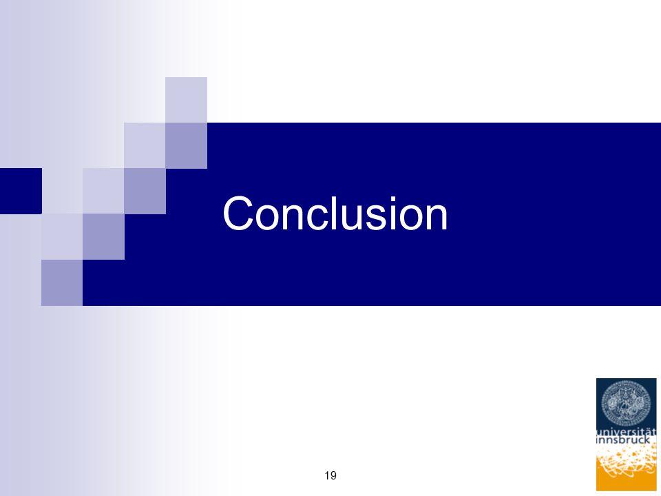 19 Conclusion