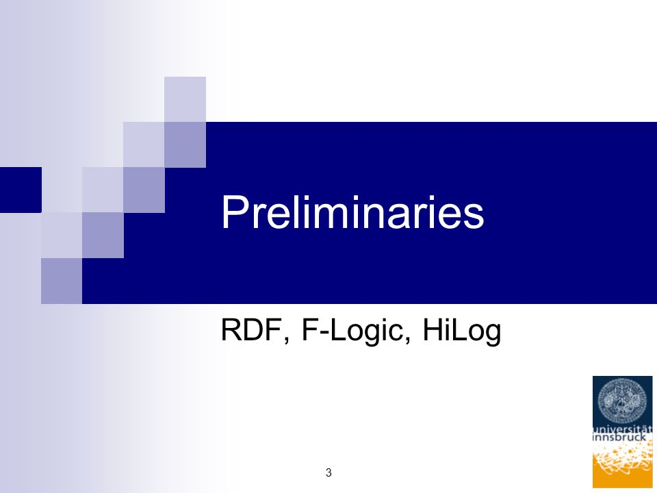3 Preliminaries RDF, F-Logic, HiLog
