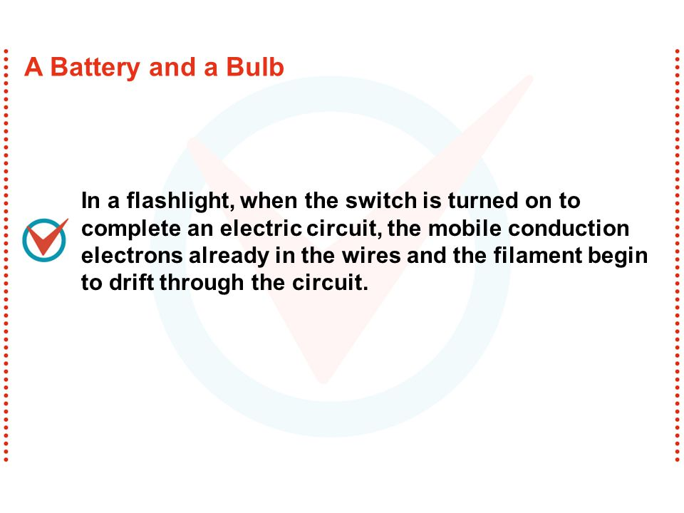 A flashlight consists of a reflector cap, a light bulb, batteries, and a barrel-shaped housing with a switch.