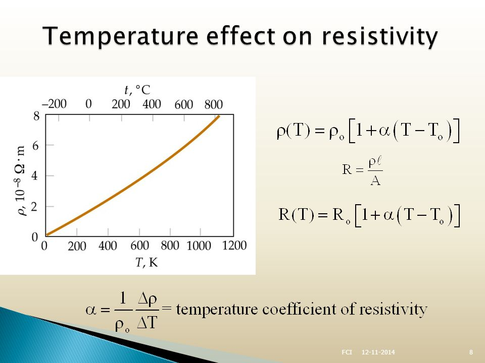  A class of materials and compounds whose resistances fall to virtually zero below a certain temperature, T C ◦ T C is called the critical temperature  The graph is the same as a normal metal above T C, but suddenly drops to zero at T C 12-11-20149FCI