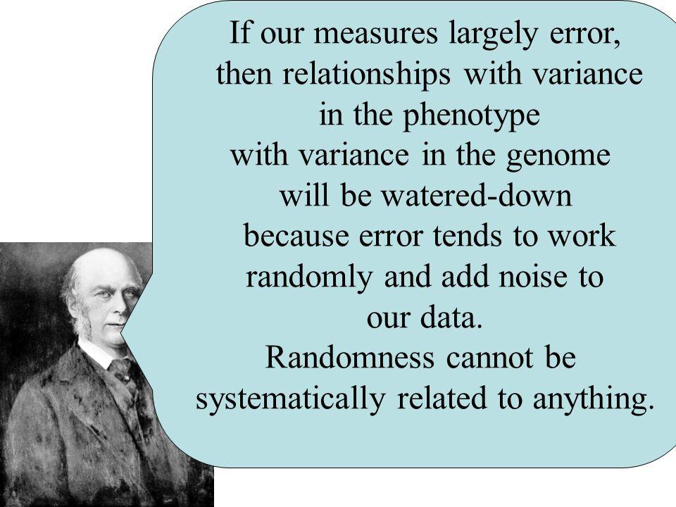 Recall, however, that we can think of Each Measurement = Error + True Score  2 error +  2 olfactory bulb genes
