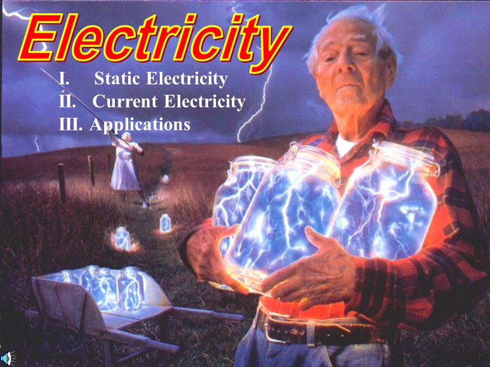 I. Static Electricity II. Current Electricity III. Applications