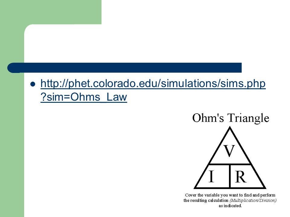 http://phet.colorado.edu/simulations/sims.php ?sim=Ohms_Law http://phet.colorado.edu/simulations/sims.php ?sim=Ohms_Law