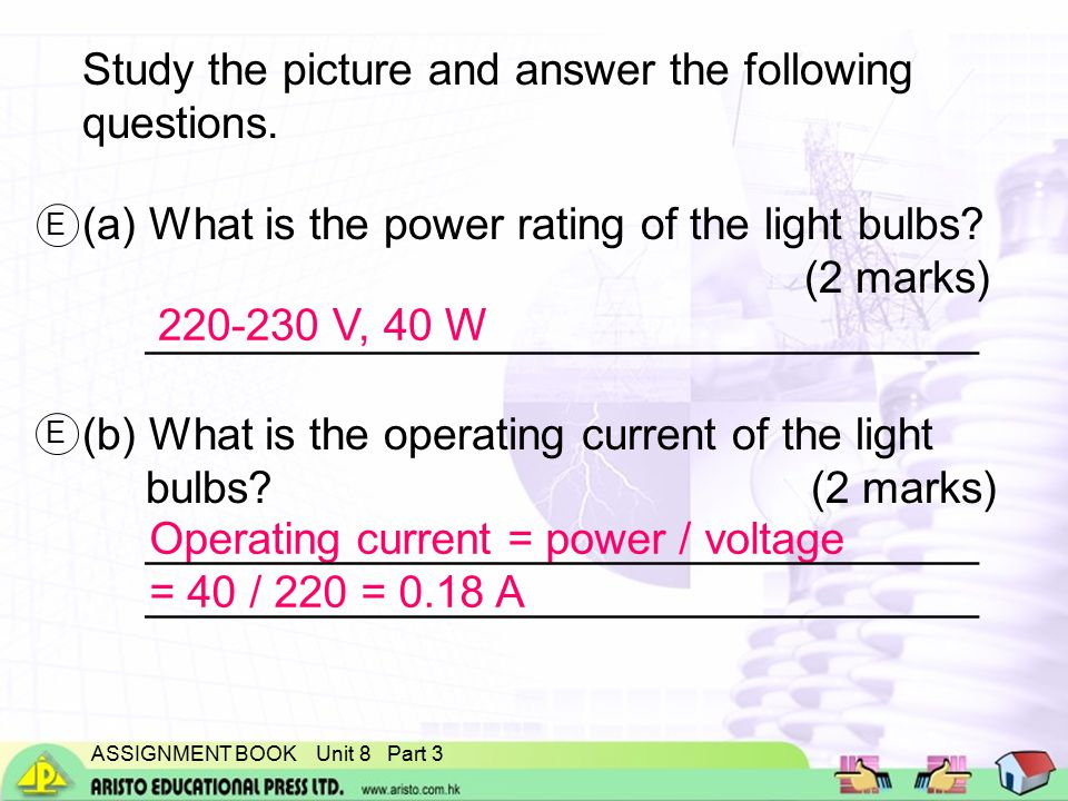 ASSIGNMENT BOOK Unit 8 Part 3 Study the picture and answer the following questions.