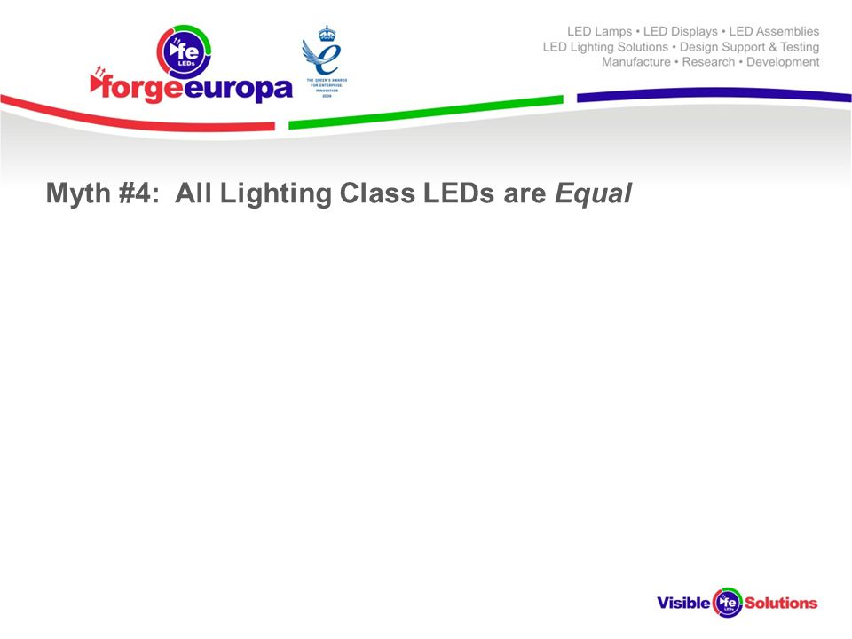 Myth #4: All Lighting Class LEDs are Equal