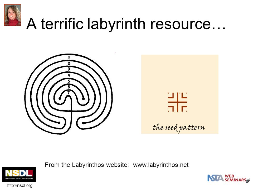 A terrific labyrinth resource… From the Labyrinthos website: www.labyrinthos.net http://nsdl.org