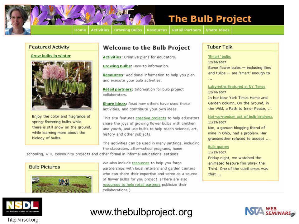 www.thebulbproject.org http://nsdl.org