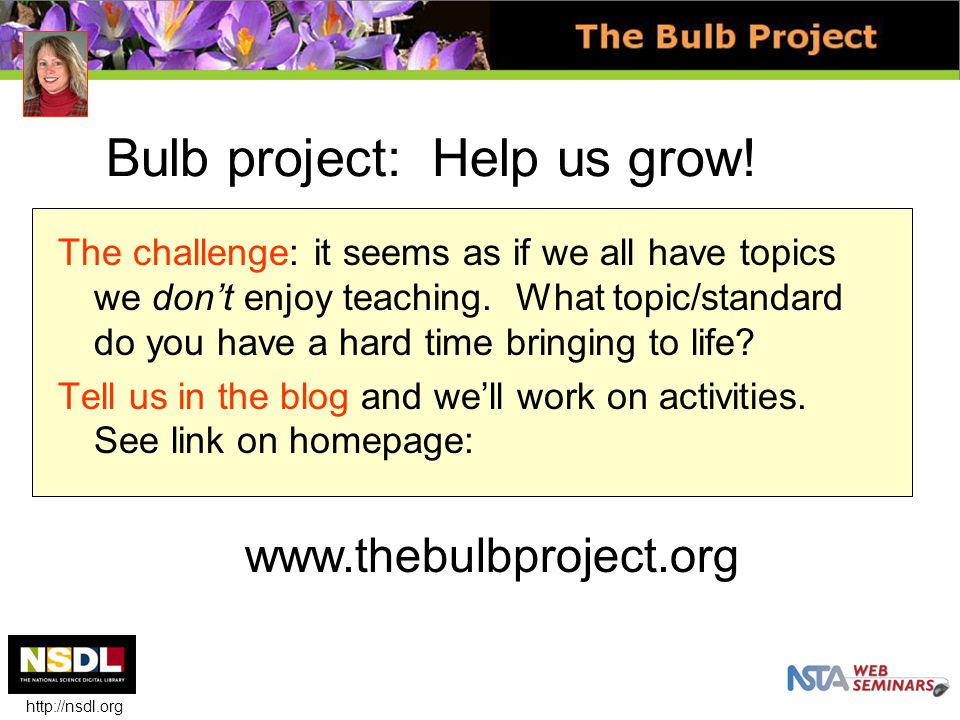 Bulb project: Help us grow.